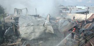 Cháy nhà máy mủ cao su