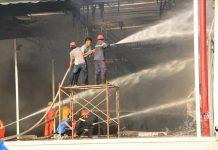 Cháy lớn khu công nghiệp Bình Dương